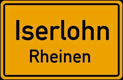 Ortsschild Iserlohn Rheinen