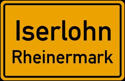 Straßenverzeichnis Iserlohn Rheinermark