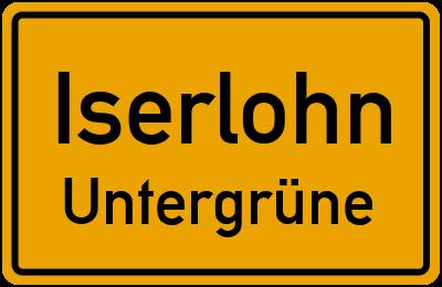Ortsschild Iserlohn Untergrüne