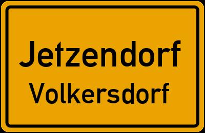 Ortsschild Jetzendorf Volkersdorf