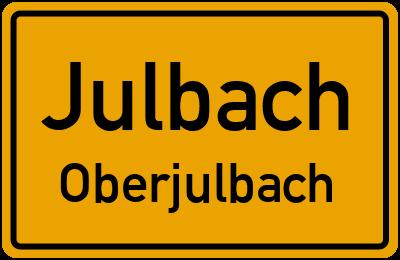 Ortsschild Julbach Oberjulbach
