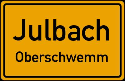 Ortsschild Julbach Oberschwemm