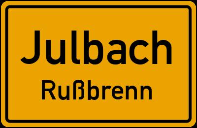 Ortsschild Julbach Rußbrenn