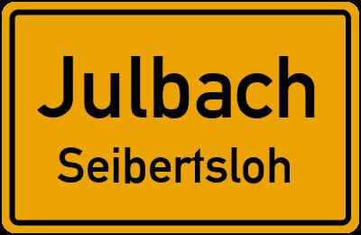 Ortsschild Julbach Seibertsloh
