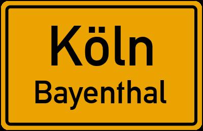 Ortsschild Köln Bayenthal