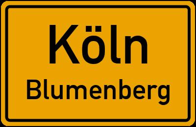 Straßenverzeichnis Köln Blumenberg
