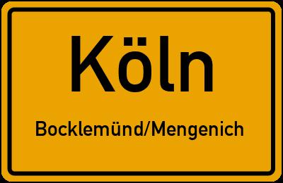 Ortsschild Köln Bocklemünd/Mengenich