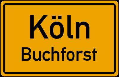 Ortsschild Köln Buchforst