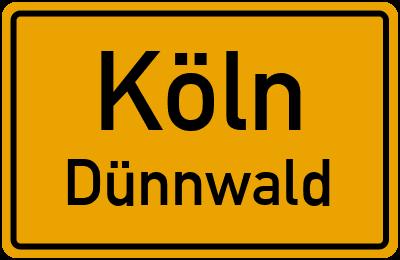 Ortsschild Köln Dünnwald