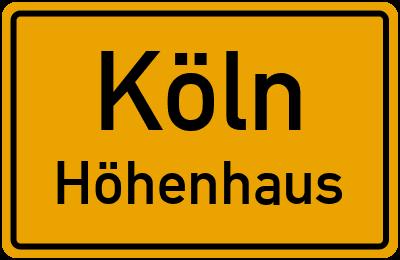 Ortsschild Köln Höhenhaus