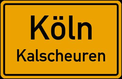 Straßenverzeichnis Köln Kalscheuren