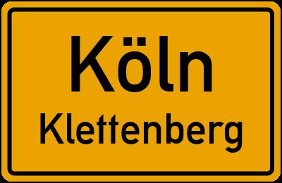 Ortsschild Köln Klettenberg