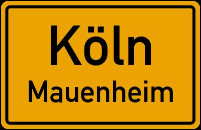 Straßenverzeichnis Köln Mauenheim