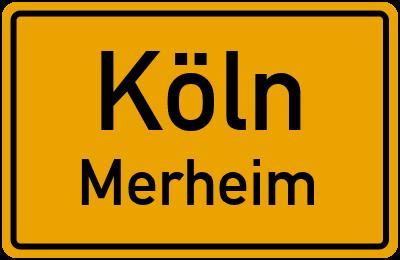 Ortsschild Köln Merheim