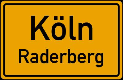 Ortsschild Köln Raderberg