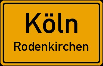 Ortsschild Köln Rodenkirchen