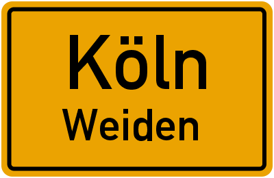 Ortsschild Köln Weiden