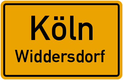 Ortsschild Köln Widdersdorf
