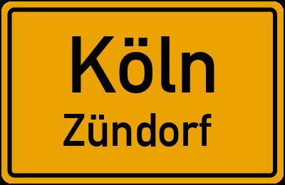 Ortsschild Köln Zündorf