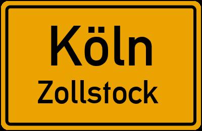 Ortsschild Köln Zollstock
