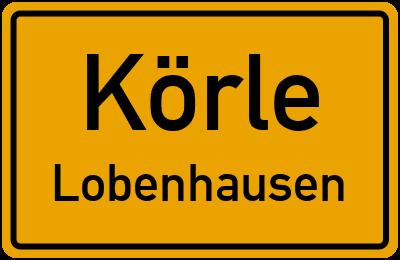 Ortsschild Körle Lobenhausen