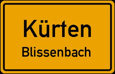Ortsschild Kürten Blissenbach