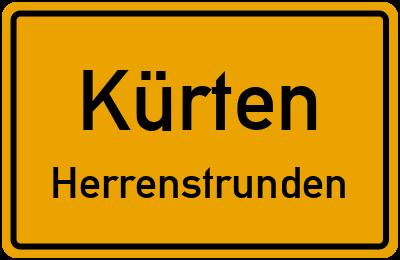 Ortsschild Kürten Herrenstrunden