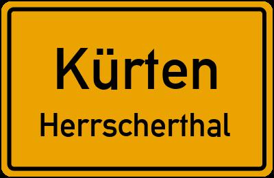 Ortsschild Kürten Herrscherthal
