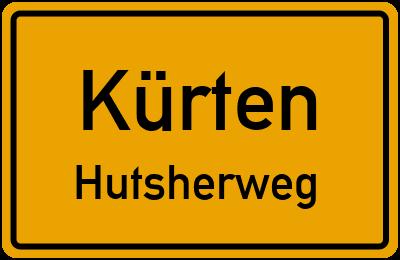 Ortsschild Kürten Hutsherweg