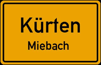 Ortsschild Kürten Miebach