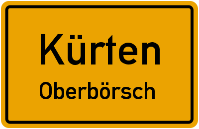 Ortsschild Kürten Oberbörsch