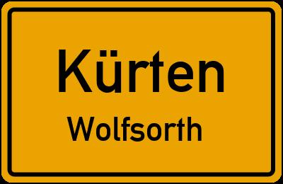 Ortsschild Kürten Wolfsorth