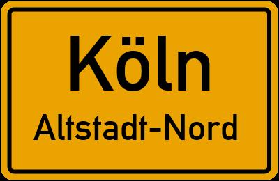 Straßenverzeichnis Köln Altstadt-Nord