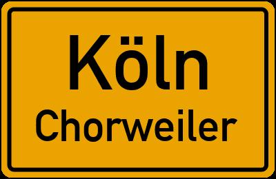 Straßenverzeichnis Köln Chorweiler