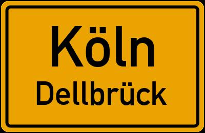 Ortsschild Köln Dellbrück