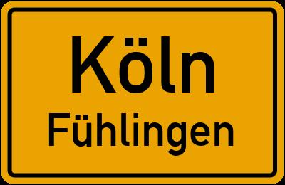 Straßenverzeichnis Köln Fühlingen