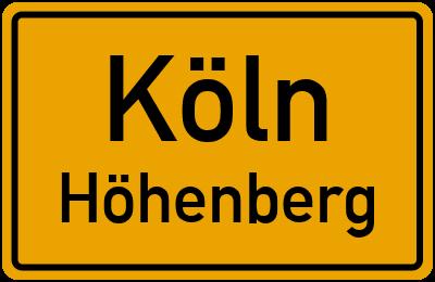 Straßenverzeichnis Köln Höhenberg