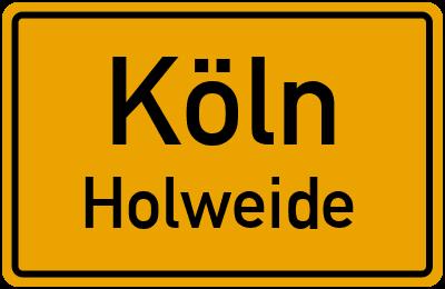 Straßenverzeichnis Köln Holweide