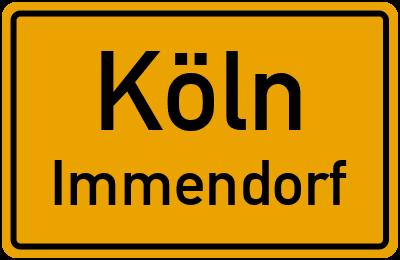 Ortsschild Köln Immendorf