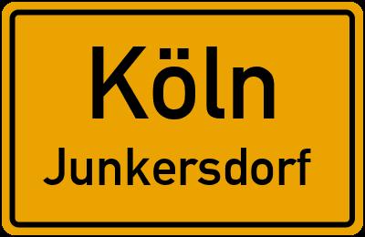 Ortsschild Köln Junkersdorf