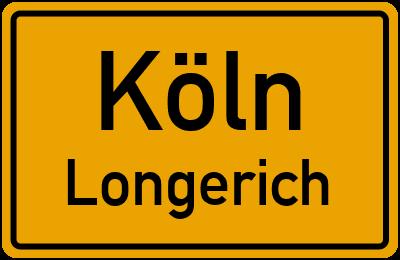 Ortsschild Köln Longerich