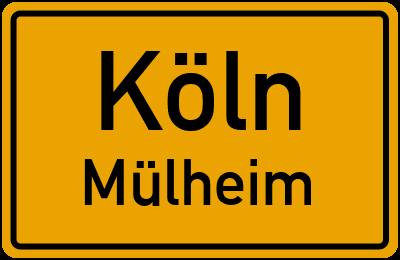 Straßenverzeichnis Köln Mülheim