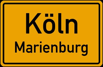 Ortsschild Köln Marienburg