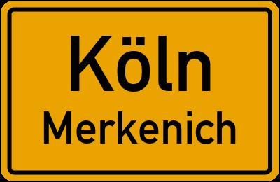 Ortsschild Köln Merkenich