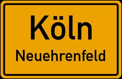 Ortsschild Köln Neuehrenfeld