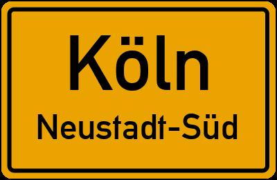 Straßenverzeichnis Köln Neustadt-Süd