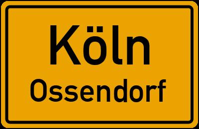 Ortsschild Köln Ossendorf