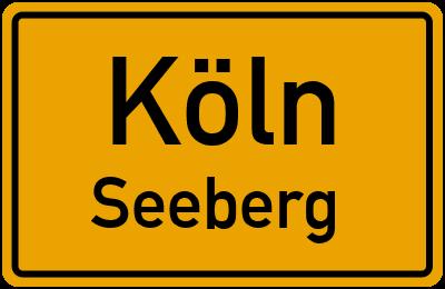Ortsschild Köln Seeberg