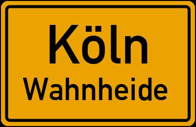 Straßenverzeichnis Köln Wahnheide