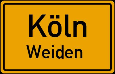 Straßenverzeichnis Köln Weiden